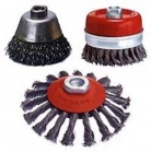Wire brushes, cup brushes for cleaning, stripping