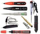 Electrician`s tools, voltage testers