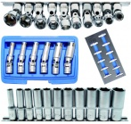 Socket assortments 3/8""
